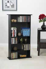 Multimedia Storage Rack Media Cabinet Blu-Ray CD DVD Games Tower Shelf Organizer