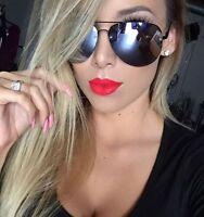 "MIRROR Aviator ""Muse"" METALLIC PEARL Reflective Women Sunglasses Shadz GAFAS"