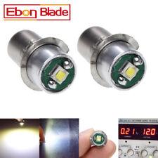 2 x 5V-24V CREE LED 3W High Power 200lm P13.5S BULB LAMP LIGHT FOR Maglite LIGHT