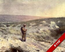 SOLDIER AT VIMY RIDGE FRANCE WWI WORLD WAR 1 ART PAINTING REAL CANVAS PRINT