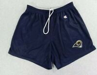 Vintage 90s Champion Shorts Mens XL St Louis Rams Gurley Navy Blue NFL Football