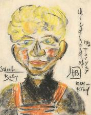 Dessins et lavis du XXe siècle et contemporains abstraits portrait, autoportrait