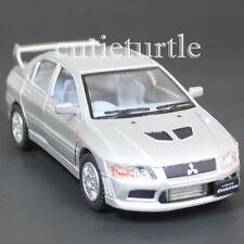 Kinsmart Mitsubishi Lancer Evolution EVO VII 1:36 Diecast Toy Car Silver KT5052D