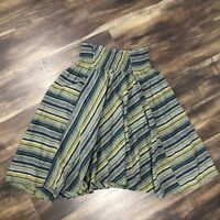 LARGE - HOT & DELICIOUS Striped Smocked Waist Skirt