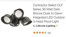Lithonia Lighting Outdoor Olf Led Security Floodlight Light in Dark Bronze