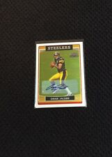 Omar Jacobs Autographed Pittsburgh Steelers Certified Football Card