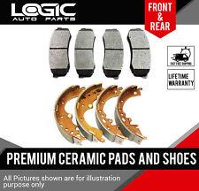 Ceramic Brake Pads + Shoes 2 Sets Fits Saturn SC, SL, SW Series [FRONT-REAR]