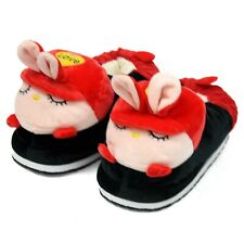 Women Cute Red Rabbit Soft Warm Plush Indoor Home Winter Slippers Boots