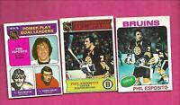 3 X 1975-76 OPC BOSTON BRUINS PHIL ESPOSITO  CARD (INV# D2180)