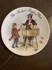 Wedgwood Collectors Plate By John Finnie The Baked Potato Man 1985 - 7 Available