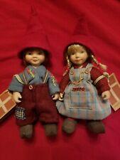 "2 Birgitte Frigast Porcelain Dolls  (the 4"" size)"
