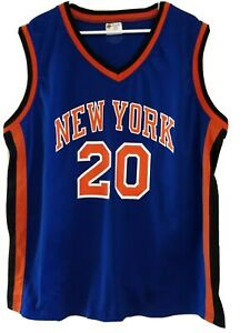 New York Knicks Adult One Size Jersey #20 Allen Houston Screened Print