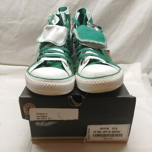 GREAT PAIR OF GREEN CHUCK TAYLOR ALL STAR CONVERSE US SIZE 12 IN BOX