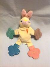 Munchkin Teether Babies Yellow Bunny Rabbit Orange Carrot Rattle Baby Toy Lovey