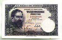 Spain-Billete. 25 Pesetas 1954. Madrid. SC-/UNC-.