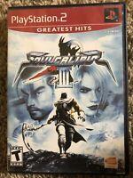 Soul Calibur III (Sony PlayStation 2, 2005) **Greatest Hits**