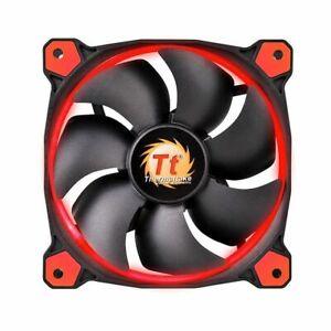 2X Thermaltake LED Ring RED 120mm Lüfter  3 Pin Anschluss 12 Volt Rot beleuchtet