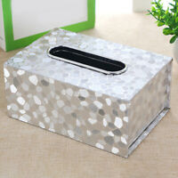 Car Rectangle Tissue Box Cover Holder PU Leather Napkin Paper Box Home Office