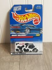 HOT WHEELS DAIRY DELIVERY Got Milk? #1004 White w/ Chrome 5 Spoke Rims New 1998