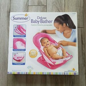 Summer Deluxe Baby Bather Pink Bathtub or Sink Foldable Reclining Padded *NEW*