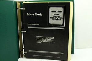 Vintage Radioshack TRS-80 Computer Micro Movie User Manual