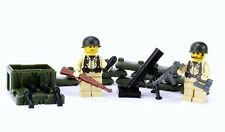 US Army WW2 Mortar team (SKU70)made with real LEGO® minifigures