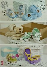 CROCHET PATTERN Baby Shoes, Boots, Trainers and Sandals DK King Cole 4492