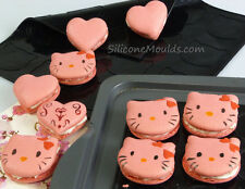 BLACK Hearts and Kitty/Teddy MACARON MACARONS IN SILICONE COTTURA Opaco Muffa Muffa