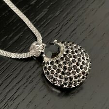 Crystal Black Fashion Pendant Necklace made with Swarovski Elements Jewellery