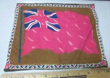 Vintage 1910-1915 Cigar Box Felt silk flag, Great Britain 8 x 10 Red, Union Jack