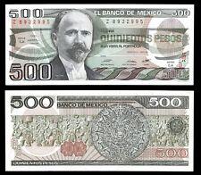 El Banco de Mexico 500 Pesos 7-8-1984, Series EA. P-79b. VF