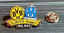 Borussia Dortmund BVB Pin CL 2011 Olympique Marseille ORIGINAL - Maße 33x21mm