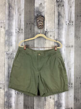 """Mens Columbia Olive Green Flat Front Shorts Size 32 6"""" Inseam"""
