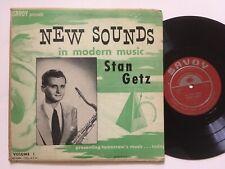"STAN GETZ New Sounds Modern Music 10"" LP VG+ MONO 50s Jazz"