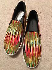 CELINE Paris Multi-Color Canvas Skate Slip On Sneakers Size 41.5 Brand NEW $670