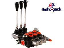 """Hydraulikventil Handsteuerventil 40L Handhebelventil 3-Heblig, Dw Zylinder, 3/8"""""""