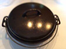 Vintage 1930s Griswold Iron #8 Cast Iron Dutch Oven 1036 & Lid 1037