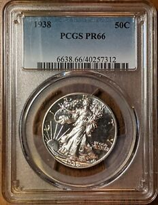 1938 PROOF Walking Liberty Half Dollar  PCGS PF66  FREE SHIPPING
