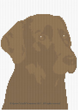 Crochet Patterns - CHOCOLATE LAB / CHOCOLATE LABRADOR Color Graph Afghan Pattern