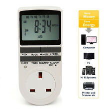 Electronic Digital Timer 12/24 Hour Switch 7 Day Socket UK Plug-in Programmable