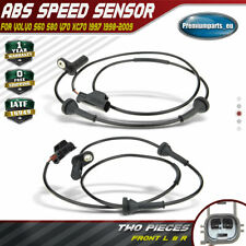2x ABS Sensors for Volvo S60 S80 V70 XC70 Cross Country 97-09 Front Left & Right