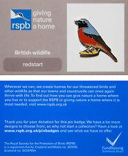 RSPB Pin Badge | Redstart | GNaH backing card [01268]