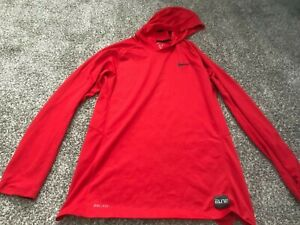 Red Nike Elite Dri-Fit Mens Hoodie Size Medium