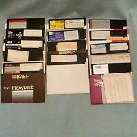 TRS-80 QBASIC MS-BASIC ZBASIC Pascal Library Compiler Software 5.25 Floppy Games