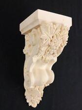 "Corbel Poured Plaster Resin 3"" x 8 1/4"" Scallop Grape Leaf Moulding Home Trim"