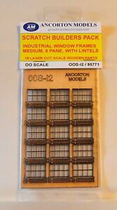 Ancorton Models 95771 Industrial Window Frames Medium Scratch Build Pk 00 Gauge