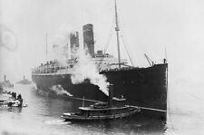RMS Lusitania PHOTO Ship Sunk by German Submarine World War I