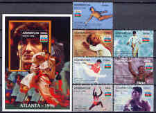 Olympiade 1996, Olympic Games, Sport - Aserbaidschan - 289-295, Bl.20 ** MNH