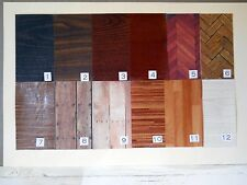 Beautiful Faux 'Wood' Floors for Diorama Rooms - 17 Different Varieties & Grains