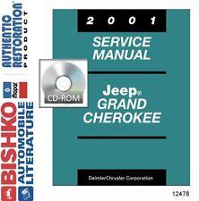 2001 Jeep Grand Cherokee Shop Service Repair Manual CD